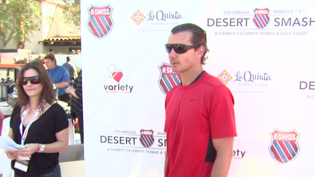 Gavin Rossdale at the 7th Annual KSwiss Desert Smash at Palm Springs CA