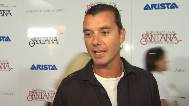 Gavin Rossdale on being a part of the album at the Clive Davis Carlos Santana Host VIP Listening Party at Las Vegas NV