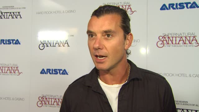 Gavin Rossdale on being on stage with Carlos Santana at the Clive Davis Carlos Santana Host VIP Listening Party at Las Vegas NV