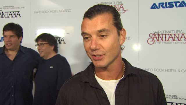 Gavin Rossdale on his song on the album at the Clive Davis Carlos Santana Host VIP Listening Party at Las Vegas NV