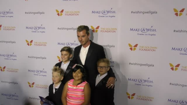 Gavin Rossdale with sons Kingston Rossdale Zuma Rossdale at the 4th Annual Wishing Well Winter Gala Presented By MakeAWish Greater Los Angeles at...