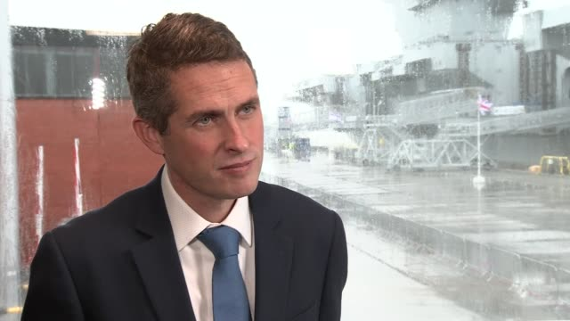 Portsmouth INT Gavin Wililamson MP interview SOT re THREATS threats change every single year 10 years ago threat from Russia not serious Threat...