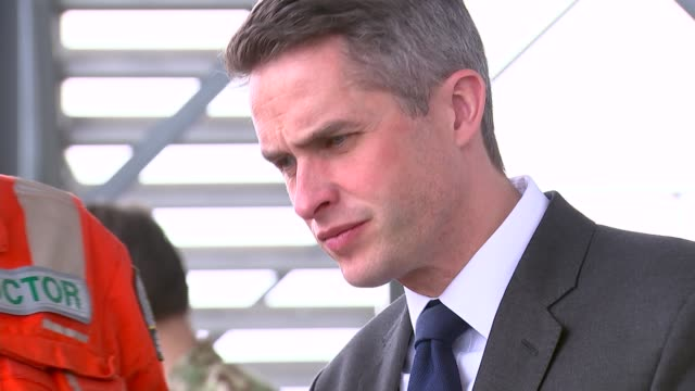 gavin williamson observes military first aid training exercise england london royal london hospital exercise** various gavin williamson mp watching... - fake hospital stock videos & royalty-free footage
