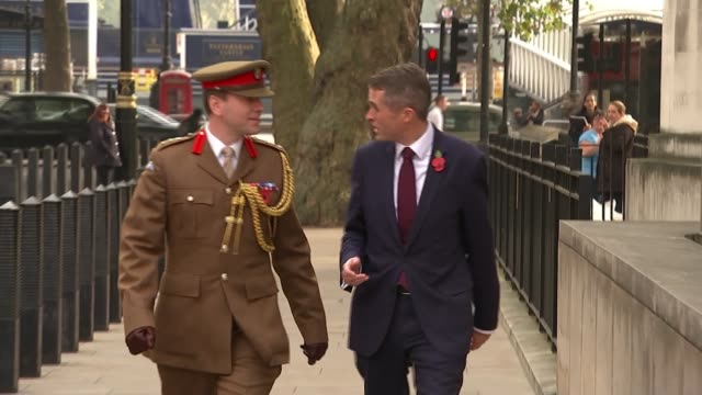 Gavin Williamson replaces Michael Fallon as Defence Secretary ENGLAND London Westminster Whitehall EXT Gavin Wiliamson MP towards with general along...