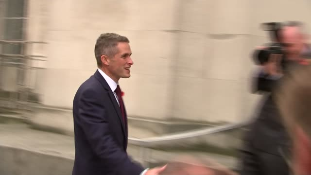 Gavin Williamson replaces Michael Fallon as Defence Secretary Newly appointed Defence Secretary Gavin Williamson arriving at Ministry of Defence and...