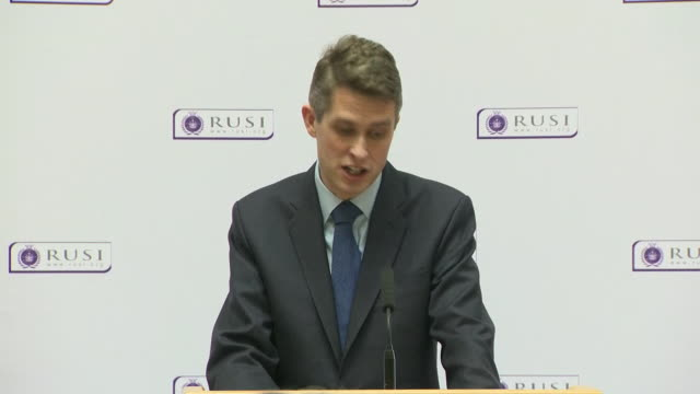 Gavin Williamson saying the first operational mission of HMS Queen Elizabeth will include the Mediterranean the Middle East and the Pacific Region