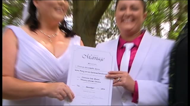 Gay and lesbian couples have tied the knot in Canberra today as the ACT's new samesex marriage laws came into force MIDNIGHT MALE GAY COUPLE STEPHEN...