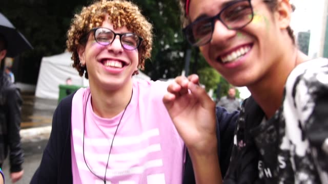 gay boys taking a selfie - identity stock videos & royalty-free footage
