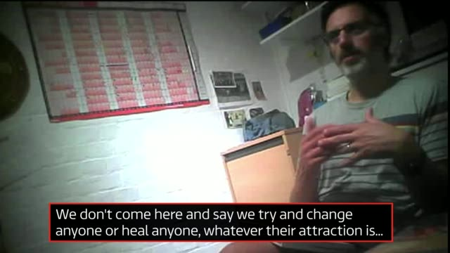 Christian charity using manual which lists homosexuality as a sexual addiction UK London Undercover footage of Paul Beadle discussing therapy for...