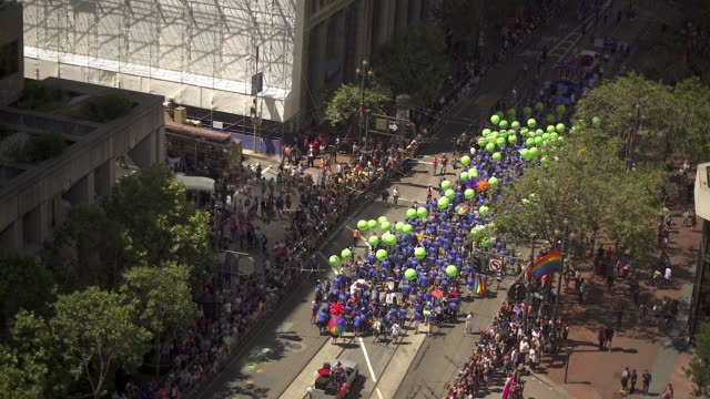 gay pride parade - parade stock videos & royalty-free footage