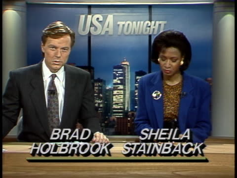 aids gay rights milestones of the 1980sbrad holbrook and sheila stainback at anchor desk - produced segment stock videos & royalty-free footage