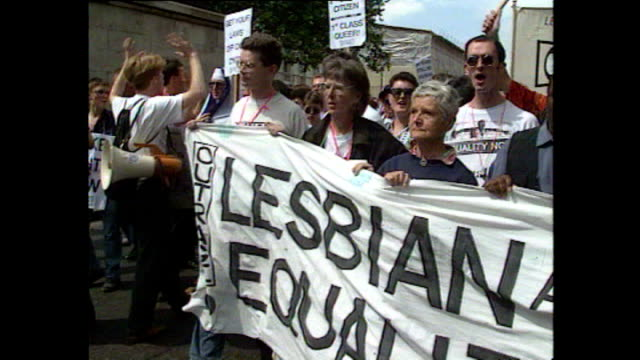 Gay rights supporters have marched on Parliament in a protest at discrimination on the 25th anniversary of the 1967 Sexual Offences Act Interview...
