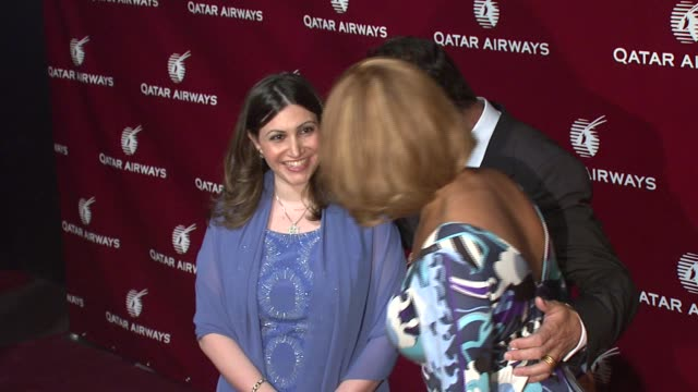gayle king and guests at the qatar airways hosts gala event to celebrate inaugural flights to nyc at frederick p rose hall home of jazz at lincoln... - gayle king stock videos & royalty-free footage