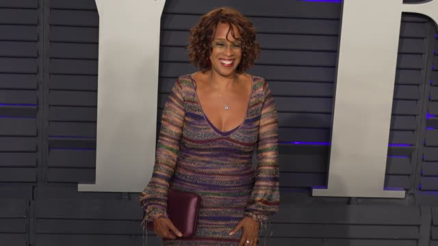 gayle king at 2019 vanity fair oscar party hosted by radhika jones at wallis annenberg center for the performing arts on february 24 2019 in beverly... - gayle king stock videos & royalty-free footage