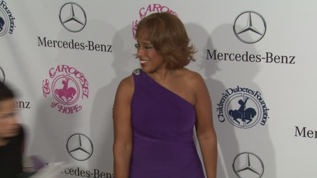 gayle king at 26th anniversary carousel of hope ball on in beverly hills ca - gayle king stock videos & royalty-free footage