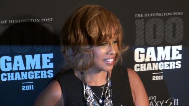 gayle king at the 2011 game changers awards at skylight soho 10/18/11 - gayle king stock videos & royalty-free footage