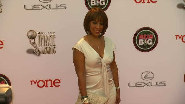 gayle king at the 45th naacp image awards arrivals at pasadena civic auditorium on february 22 2014 in pasadena california - gayle king stock videos & royalty-free footage