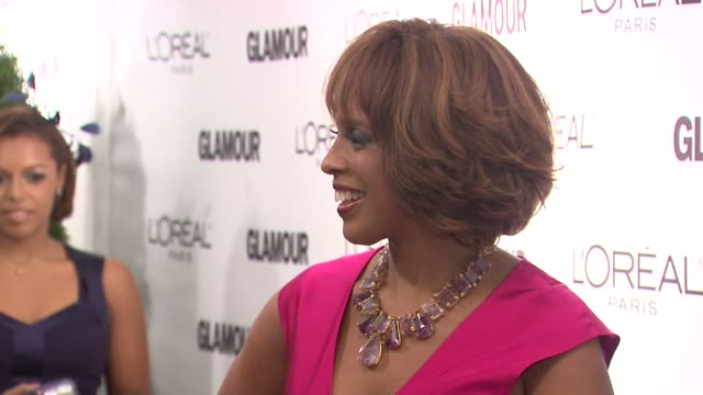 gayle king at the glamour magazine honors the 2010 women of the year - red carpet at new york ny. - gayle king stock videos & royalty-free footage