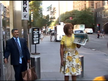gayle king at the mandarin hotel in new york city at the celebrity sightings in new york at new york ny. - gayle king stock videos & royalty-free footage
