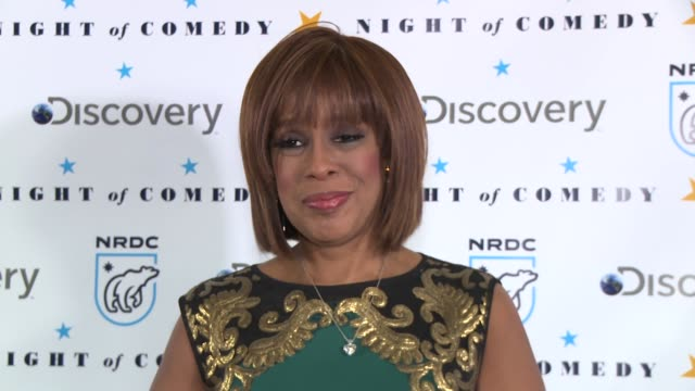 gayle king at the natural resources defense council presents night of comedy benefit hosted by seth meyers at new york historical society on april 30... - seth meyers stock videos and b-roll footage