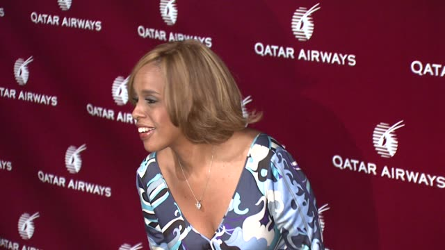gayle king at the qatar airways hosts gala event to celebrate inaugural flights to nyc at frederick p rose hall home of jazz at lincoln center in new... - gayle king stock videos & royalty-free footage