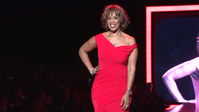 gayle king at the the heart truth's red dress collection - runway - fall 2011 mbfw at new york ny. - gayle king stock videos & royalty-free footage
