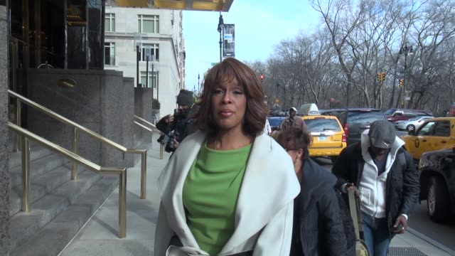 gayle king at the trump international hotel and tower in new york ny on 1/17/13 - gayle king stock videos & royalty-free footage