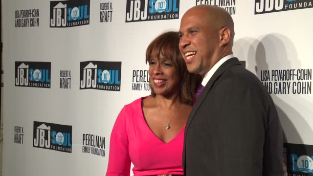 gayle king, cory booker at jon bon jovi soul foundation 10 year anniversary at the garage on october 6, 2016 in new york city. - gayle king stock videos & royalty-free footage