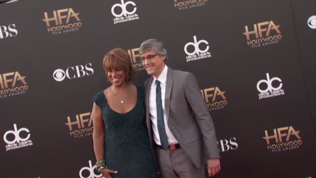 gayle king mo rocca at the 2014 hollywood film awards in los angeles ca - gayle king stock videos & royalty-free footage