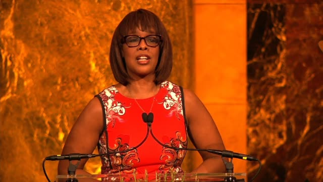 speech gayle king on introducing iman at variety's power of women new york at cipriani 42nd street on april 25 2014 in new york city - gayle king stock videos & royalty-free footage