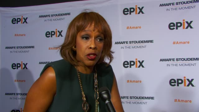 INTERVIEW Gayle King on seeing the Knicks play on her plans for mother's day at EPIX Premiere Of Amare Stoudemire IN THE MOMENT at Marquee on April...
