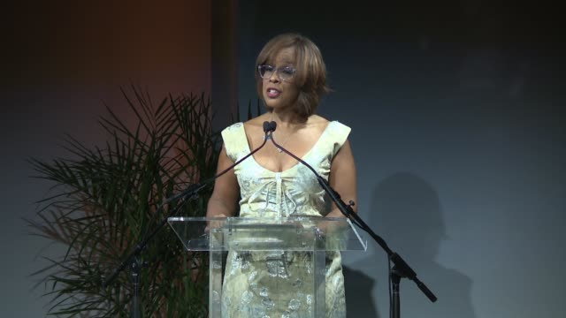 speech – gayle king on this event taking places in los angeles before but this being the first time in ny at sean penn friends haiti takes root... - gayle king stock videos & royalty-free footage