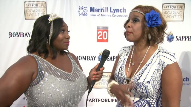 gayle king says there is nothing more important than the arts and that's why she comes back to this event year after year at russell simmons rush... - gayle king stock videos & royalty-free footage