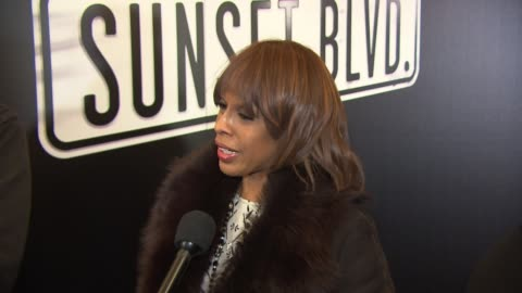 """gayle king talks about being a fan of glenn close's for a long time at """"sunset boulevard"""" opening night at palace theatre on february 09, 2017 in new... - gayle king stock videos & royalty-free footage"""