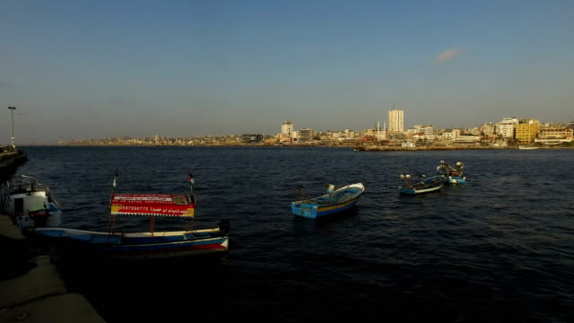 Gaza port on July 22 2017 in Gaza City Gaza Gaza's fishermen suffer under the blockade and are only permitted to go as far as six nautical miles off...