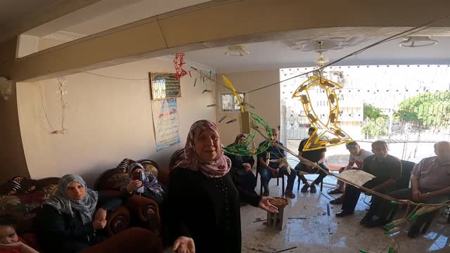 gaza residents celebrate ceasefire but region has suffered heavy losses; gaza; rubble of destroyed buildings, palestinian people in streets, vox... - war and conflict stock videos & royalty-free footage