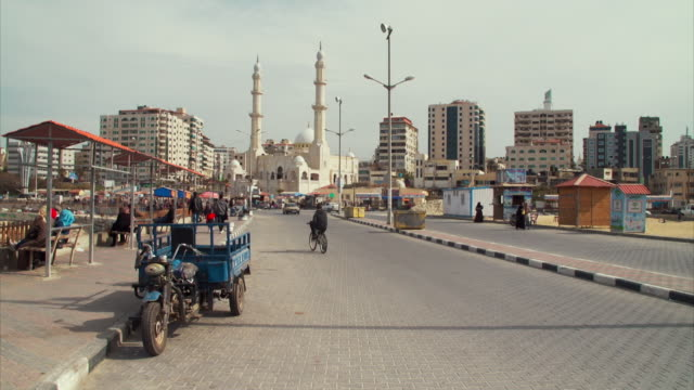 gaza street scenes including gaza harbour - gaza strip stock videos & royalty-free footage