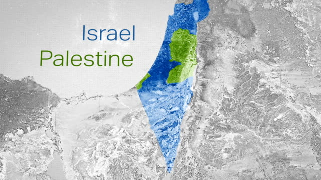 gaza strip map - palestinian territories stock videos and b-roll footage