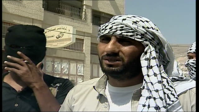 continued fighting between hamas and fatah groups mahdy maraka interview sot on fighting against fellow palestinians - hamas stock videos & royalty-free footage