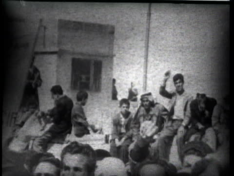 gaza's arabs enthusiastically welcome egypt's new administrative governor, general mohammed hassan abdel latif. - 1957 stock videos & royalty-free footage