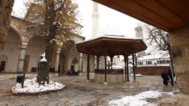 gazi husrev beg mosque - mosque stock videos & royalty-free footage