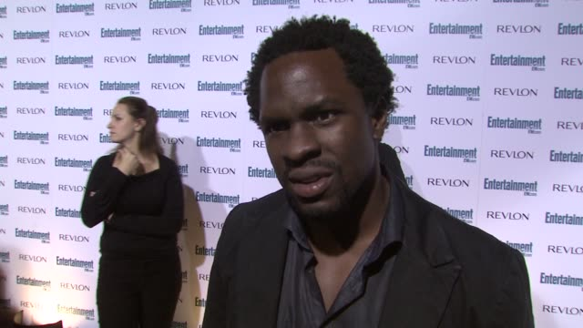gbenga akinnagbe at the entertainment weekly 6th annual pre-emmy party at los angeles ca. - エンターテインメント・ウィークリー点の映像素材/bロール