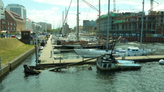 Gdansk marina - sunken yacht