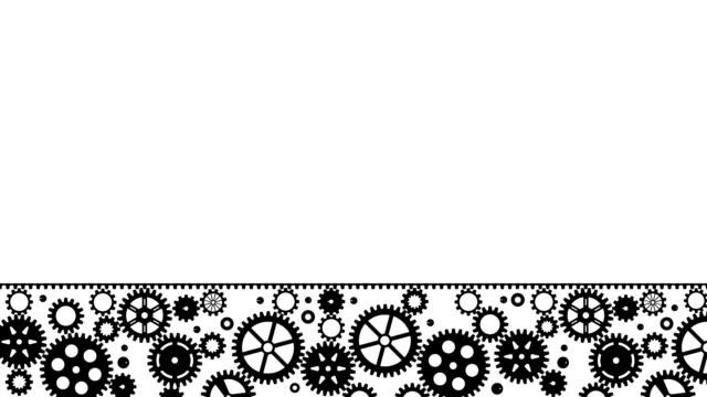 ギア機械部品 - ハイコントラスト点の映像素材/bロール