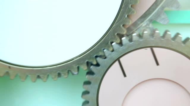 gear machinery running machine - interlocked stock videos & royalty-free footage