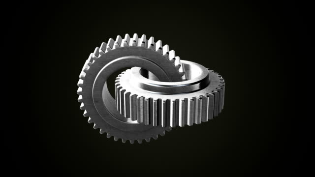 gear wheel abstract background - continuity stock videos & royalty-free footage