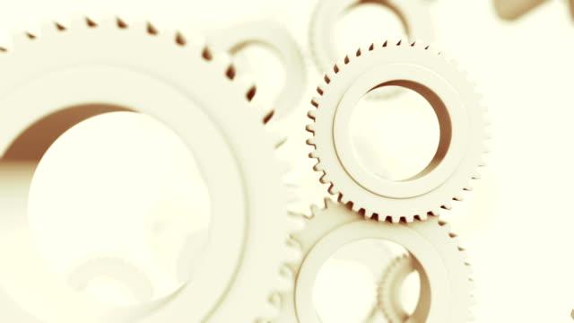 vidéos et rushes de roue dentée abstrait - rouage mécanisme