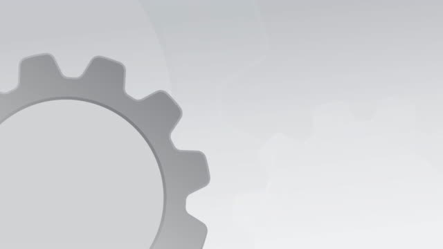 gear wheel white - gray background stock videos & royalty-free footage