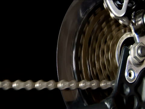 ecu, gears and bicycle chain - interlocked stock videos & royalty-free footage