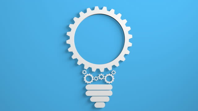 gears bulb - three dimensional stock videos & royalty-free footage